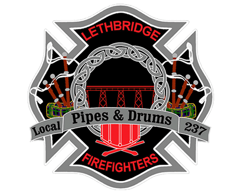 Lethbridge Firefighters Pipes and Drums BAND_old logo