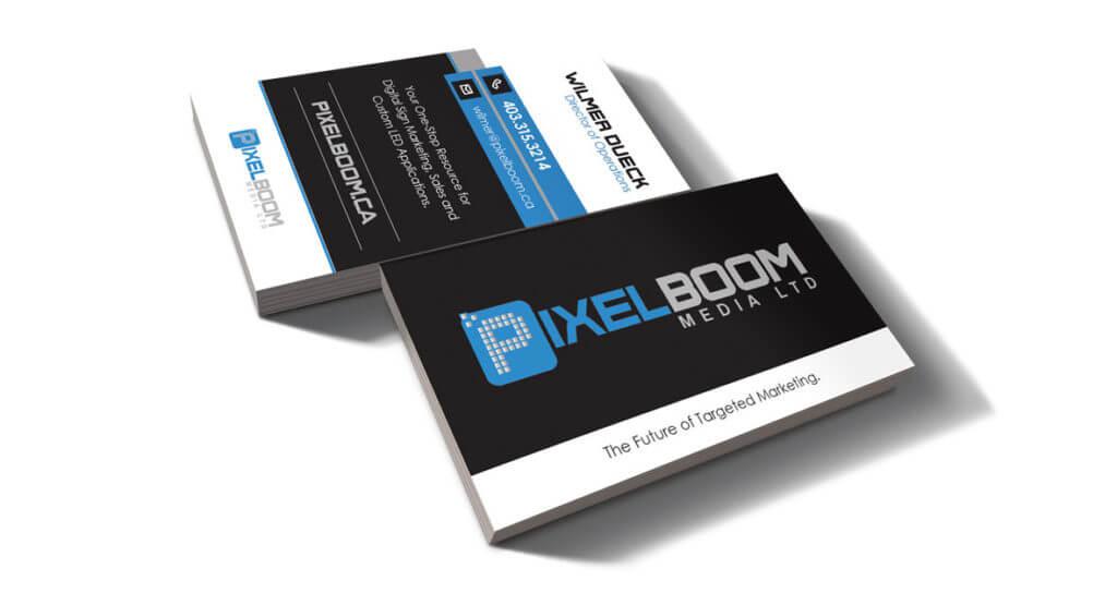 Pixelboom Media Business Card Mockup Design by Hybrid Media