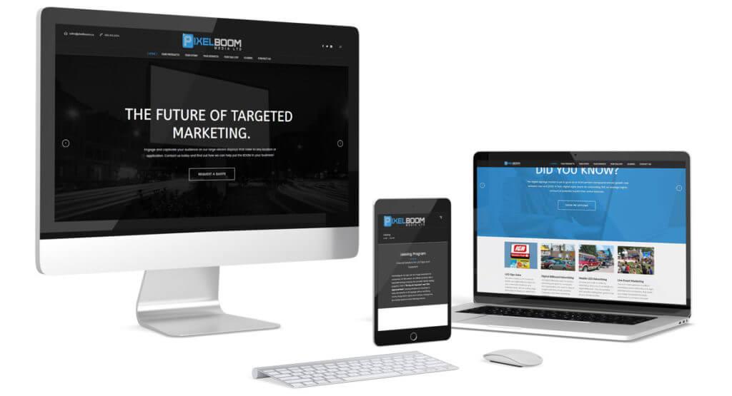 Pixelboom Media Responsive Web Design Design by Hybrid Media