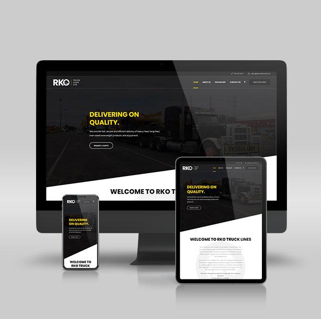 Hybrid-Media-Lethbridge-Web-Design-RKO-Trucklines-website-mockup-main