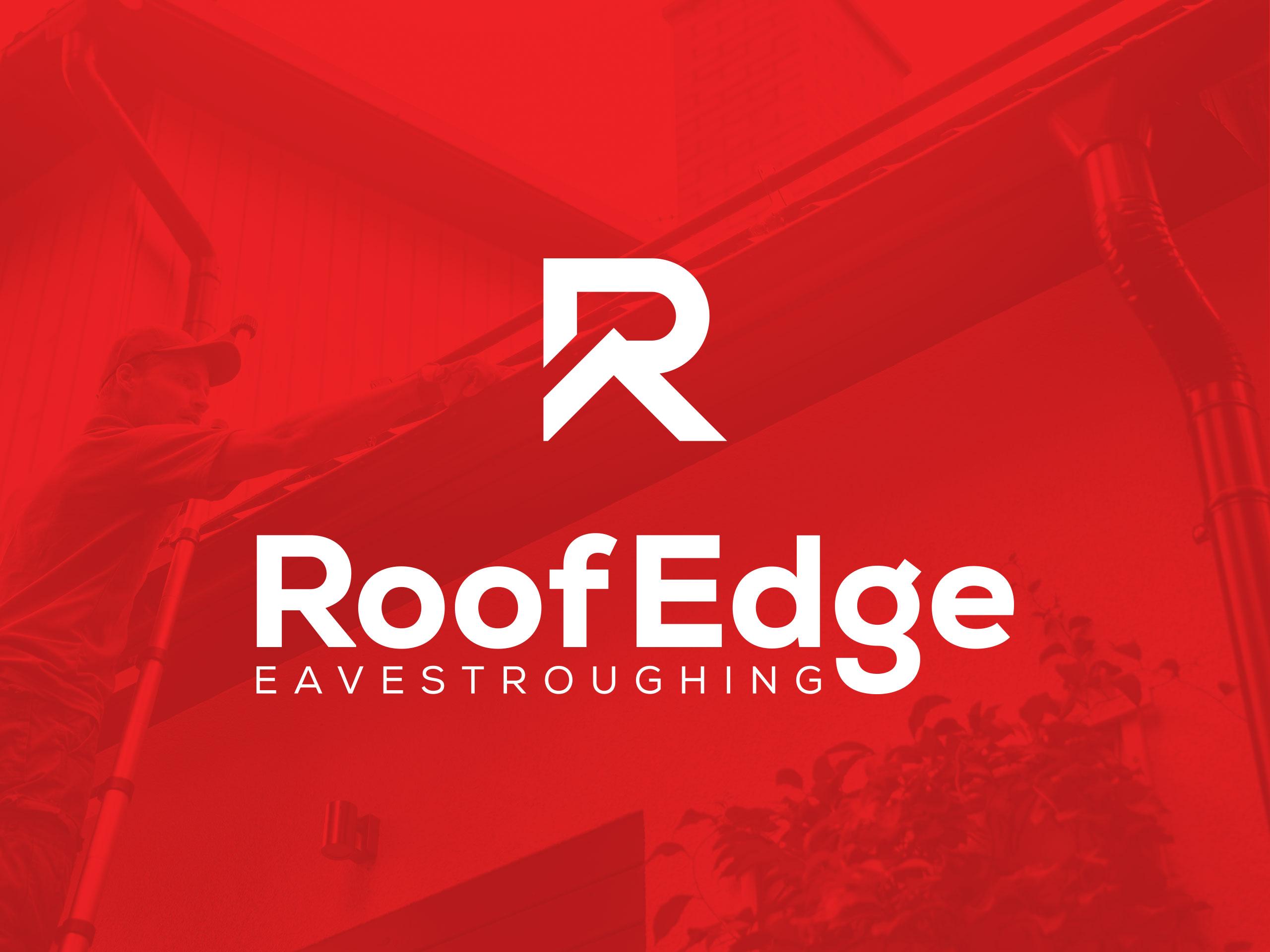 RoofEdge-Eavestroughing-Lethbridge-Logo-Design-by-Hybrid-Media-YQL