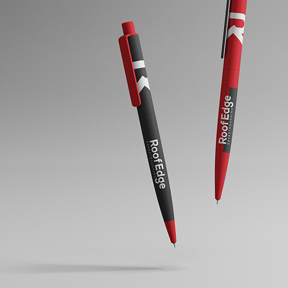 RoofEdge-Eavestroughing-Lethbridge-Logo-design-and-web-Design-by-Hybrid-Media-YQL-product-concept-pens
